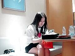 Korean model striptease hot